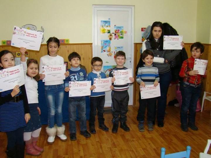 Diplomele Toyota au ajuns in mainile micutilor artisti din cadrul asociatiei APCA Galati